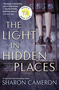 The Light in Hidden Places (paperback) by author Sharon Cameron